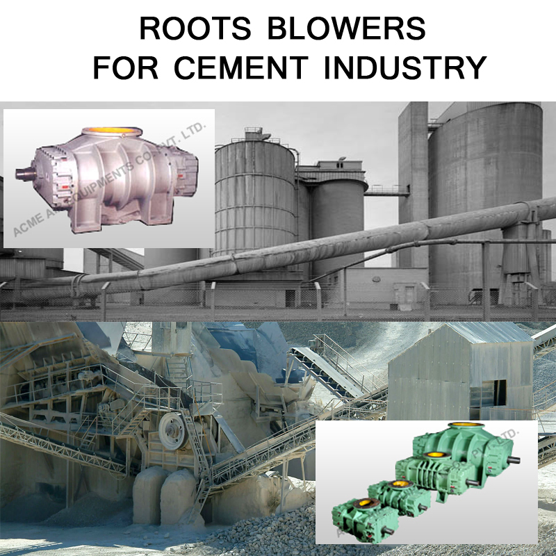 Positive Displacement Roots Blowers in Cement Industry - Acme Air
